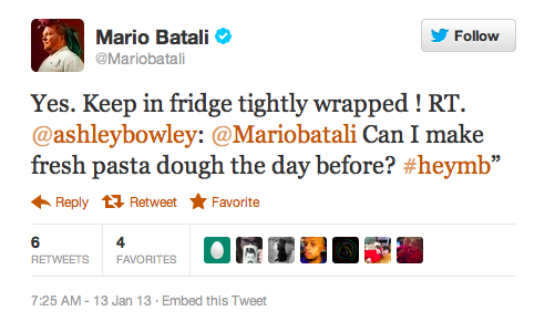 Tip for keeping pasta dough fresh