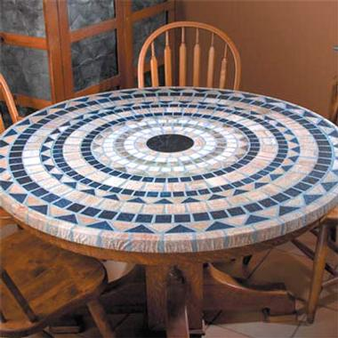 This Mediterranean-Look Table Cover is in a class of its own. $19.99