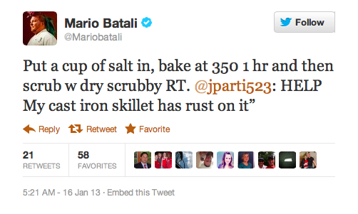 How to de-rust a cast iron skillet