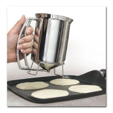 The Pancake Batter Dispenser ensures that each pancake is the same size, so that your home can be more like a fast-food restaurant. 12.99