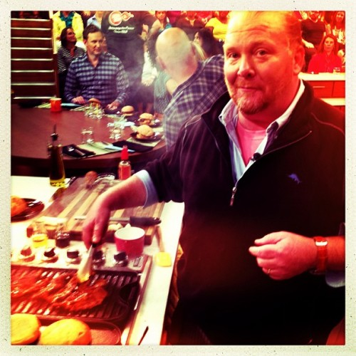Cooking with Mario Batali on The Chew.