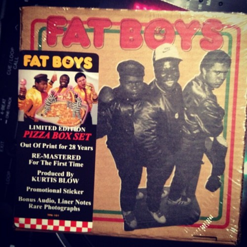 The limited-edition Fat Boys rerelease in the pizza box = #veryrare.