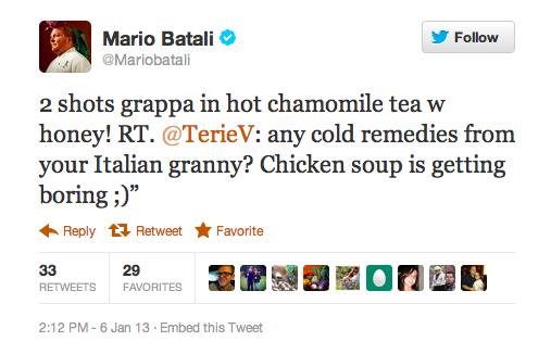 An Italian cold remedy