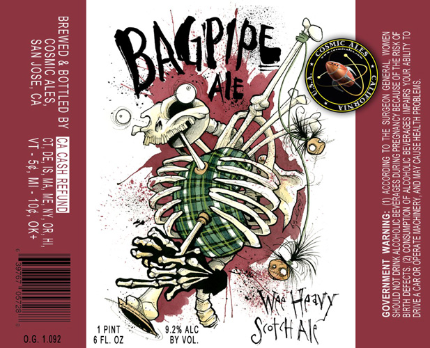 After this caught my eye, it kind of struck me as a ripoff of Flying Dog's labels by Ralph Steadman. What do you think?