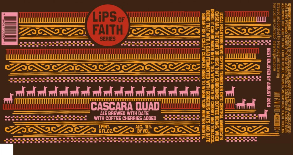 The latest release in New Belgium's Lips of Faith series channels South America with alpacas and a quilt-style pattern.