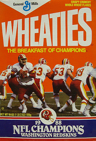Redskins NFL Champions (1988).
