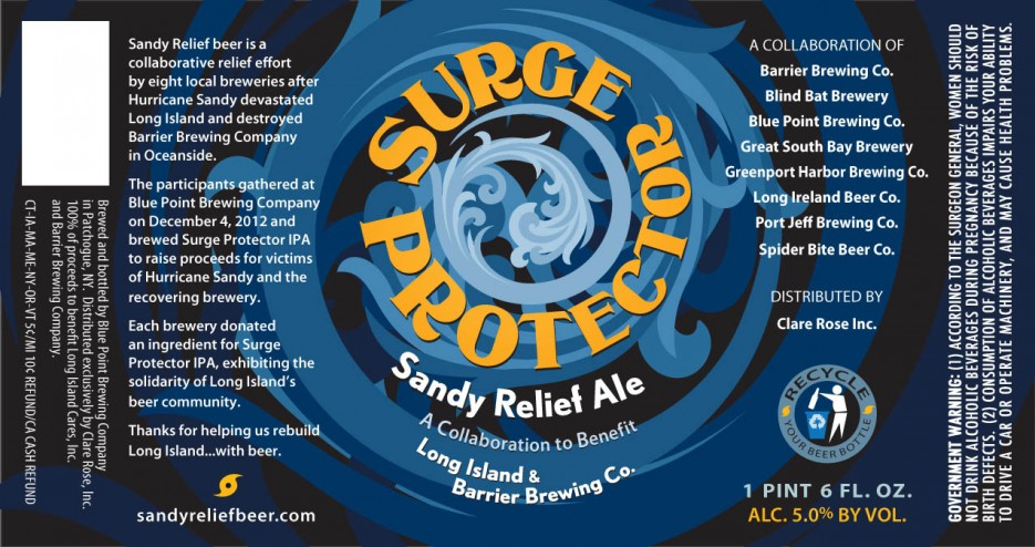 Eight Long Island breweries got together to make this collabo ale; profits will go towards the Hurricane Sandy relief efforts. Respect.