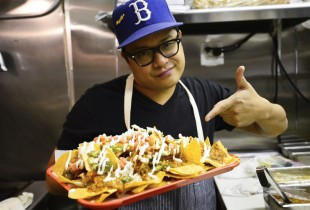 Click through the gallery for a step-by-step look at Talde's nacho construction.