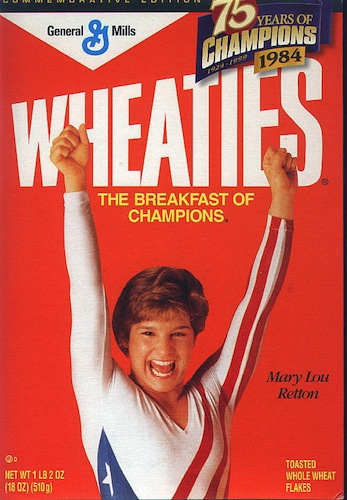 Mary Lou Retton (1984).