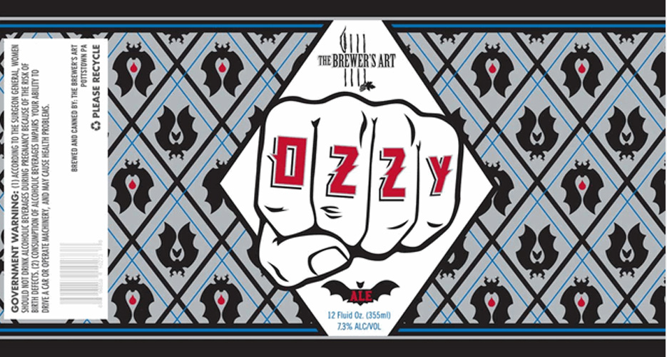 You already know this beer, brewed as an homage to Ozzy Osbourne, is cool. But Brewer's Art sealed the deal with the new label.