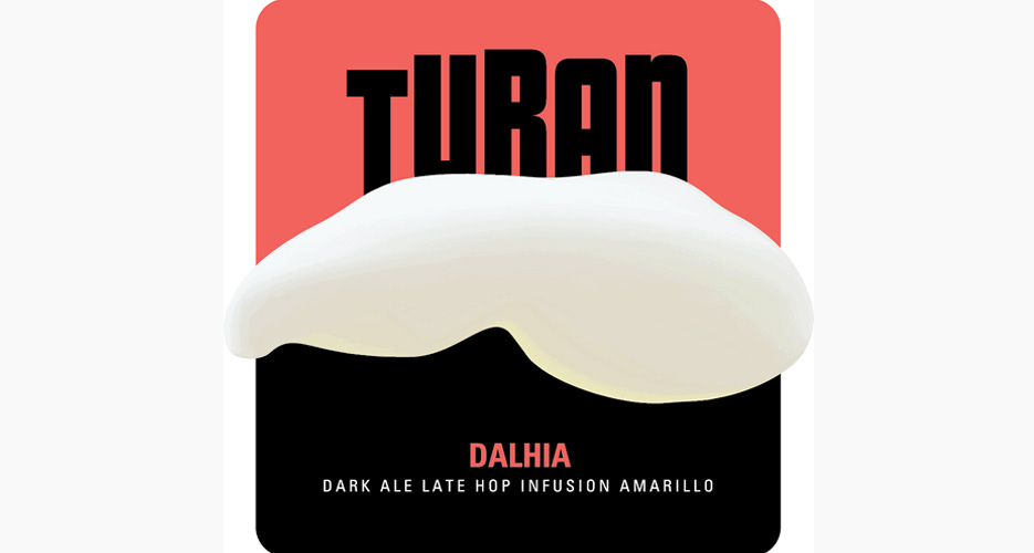 Intiguing graffic designed from this Italian outfit, Birra Turan. We see a mustache, a stout with head, and a cupcake. What do you see?