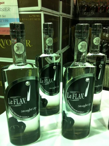 Yes, Flavor Flav put out a vodka. And yes, it's called Le Flav vodka.