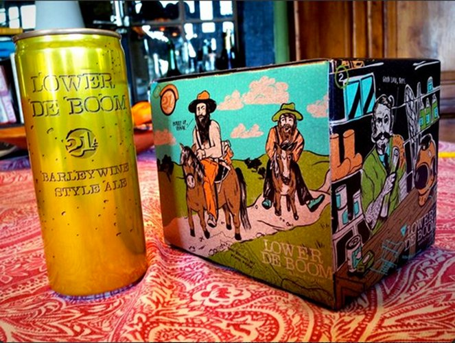 A barleywine in a can is crazy enough, but 21st Amendment decided to make sure the box was dope as well.
