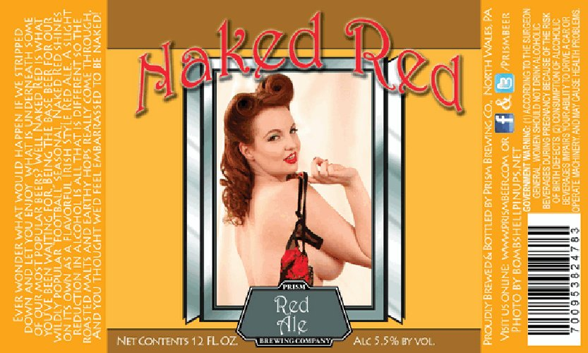"""This week's """"So Bad, It's Good"""" award goes to Prism's Naked Red for the throwback pinup treatment."""