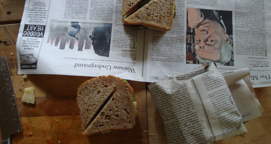 Wrapping-in-newspaper