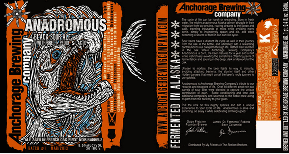 The Anchorage Brewing Co. bottles are always badass, and this one, featuring some sort of fearsome sea monster, is no different.