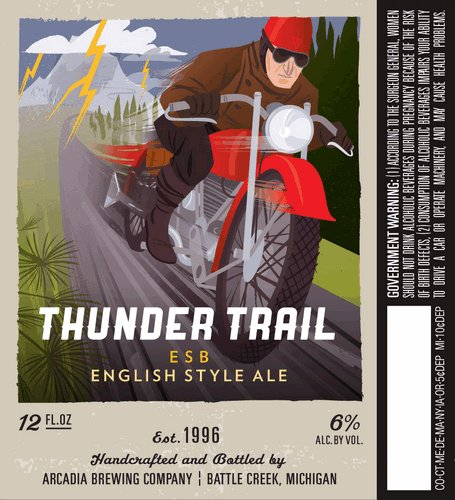 With the hand-drawn look so popular in beer labels today, it's nice to see something with a bit of a modern, computer-graphics edge.