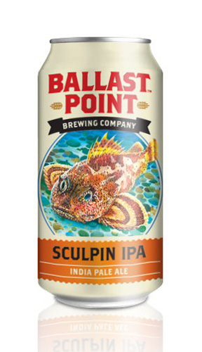 Ballast Point Sculpin. This is largely considered one of the best, most dependable IPAs in the country, so six packs of these bad boys will be in heavy rotation.