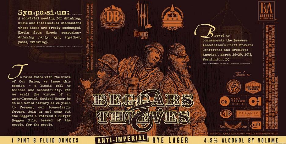 A major mid-Atlantic brewery collabo—Devil's Backbone, DC Brau, and Brewer's Art—deserves some major artwork. Mission accomplished.