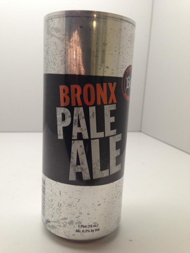 Bronx Pale Ale. This beer has been an instant New York classic since it launched in 2011. Cans are expected to hit in late April or May, according to the brewery's