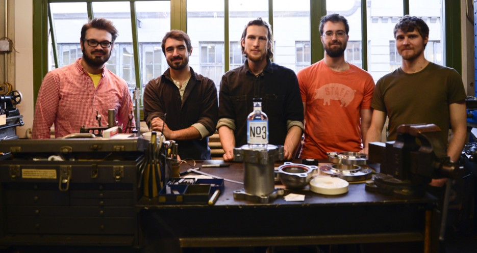 The Founders (from left to right): Rich Watts, Peter Simon, Zac Bruner, Max Hames, and David Kyrejko