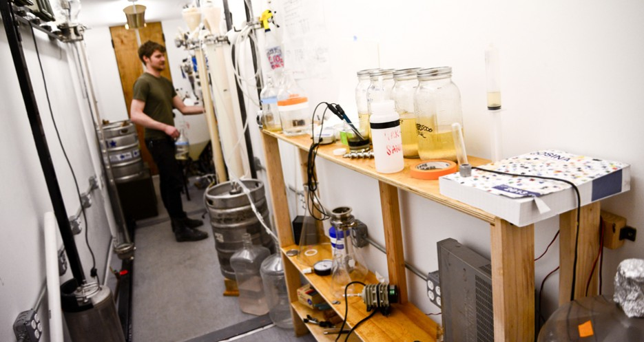 The reaction room where continuous fermentation occurs