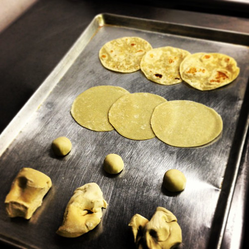 These half-finished tortillas at @Empellon look more beautiful than anything we've made this week.