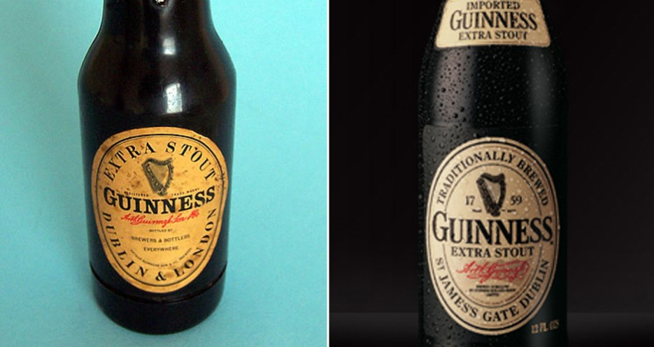 Guinness has had strong consistency in its branding, generally opting for subtle tweaks over huge changes (photos: