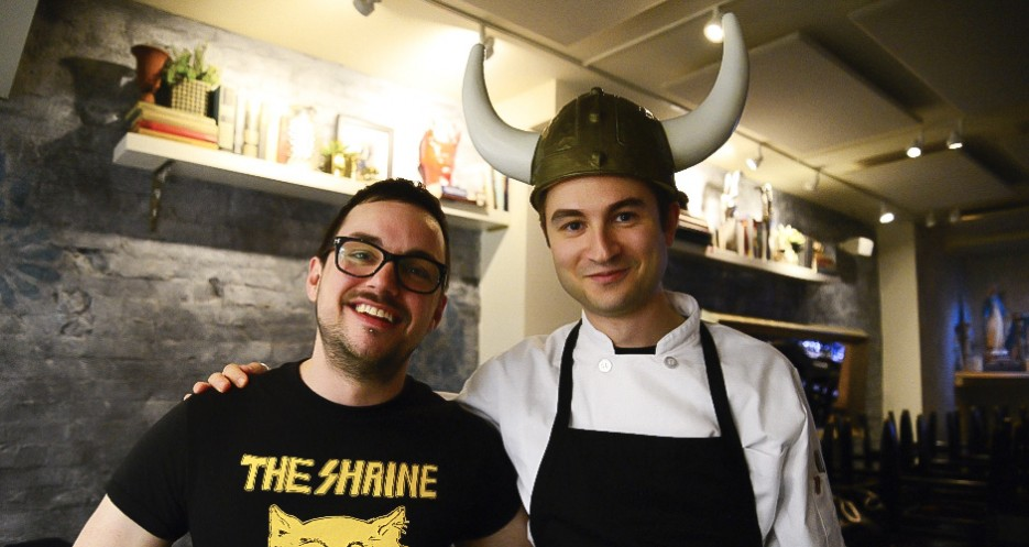 Stupak secures the Viking Helmet of Nacho Excellence, and the two decide they can still be friends.