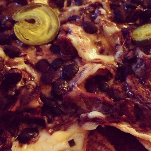 """The Purist Award: """"Homemade queso, carne asada, and black beans"""" by"""