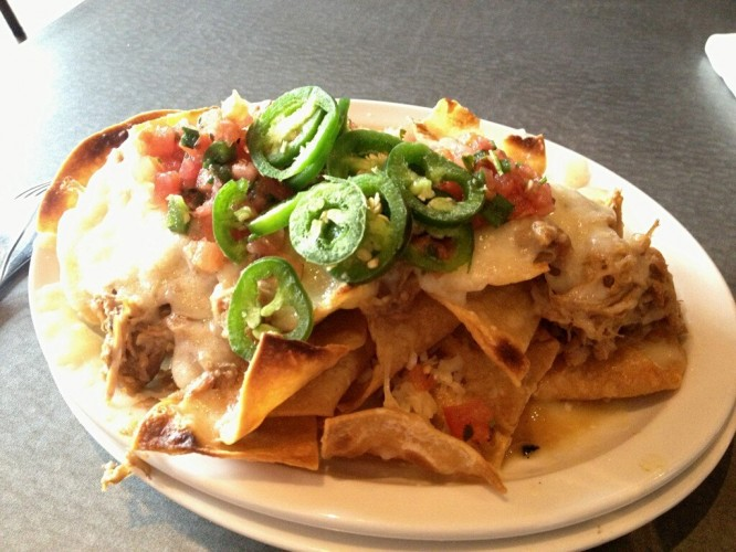 """The Best Looking Nachos Award: """"BBQ Nachos from @RaleighTimesBar made with 'cue from @ThePitBBQ #nachoweek"""" by"""