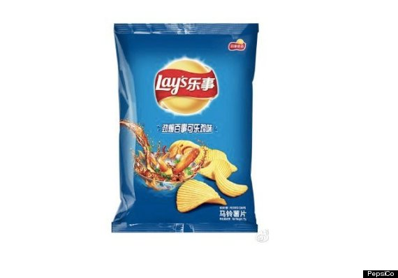 The Pepsi-and-chicken chips, available only in China