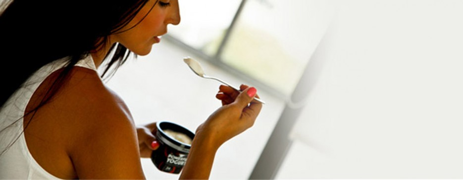 Don't worry, hot chicks at the gym like it too! (Photo: Powerful Yogurt)