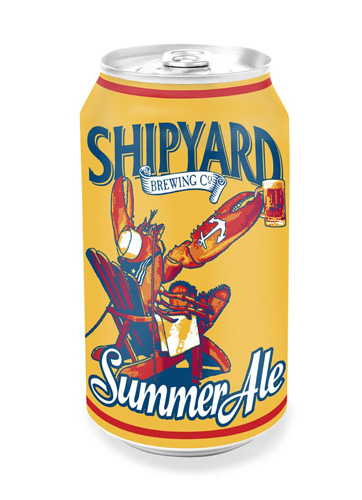Shipyard Brewing Co. Summer Ale. Imagine cracking one of these at a lobster bake on the beach? In summer 2013, it will be possible.
