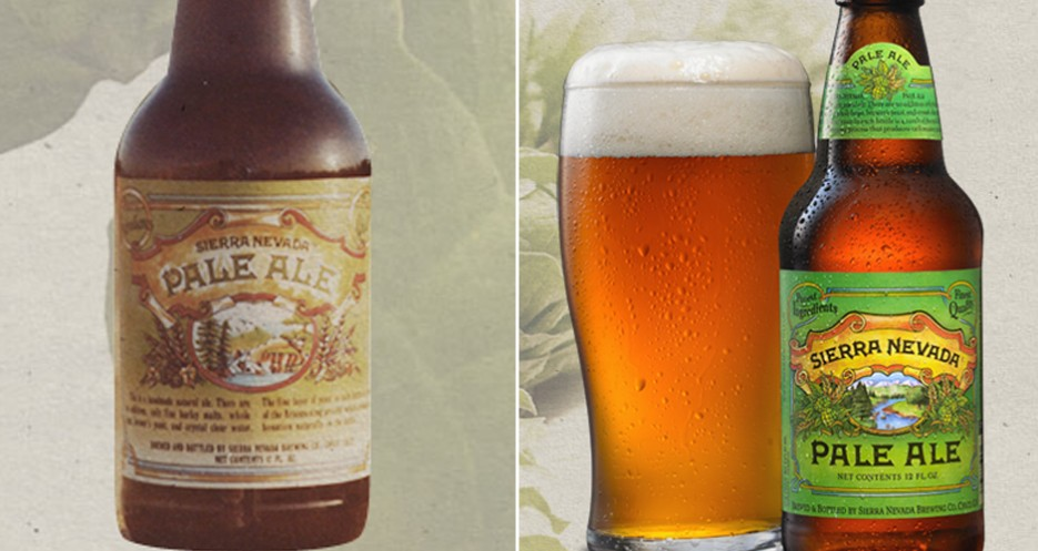 Interesting to see that the nature-focus of Sierra Nevada's labels hasn't changed much since the brewery launched in the 1970s. (Photos: Sierra Nevada)