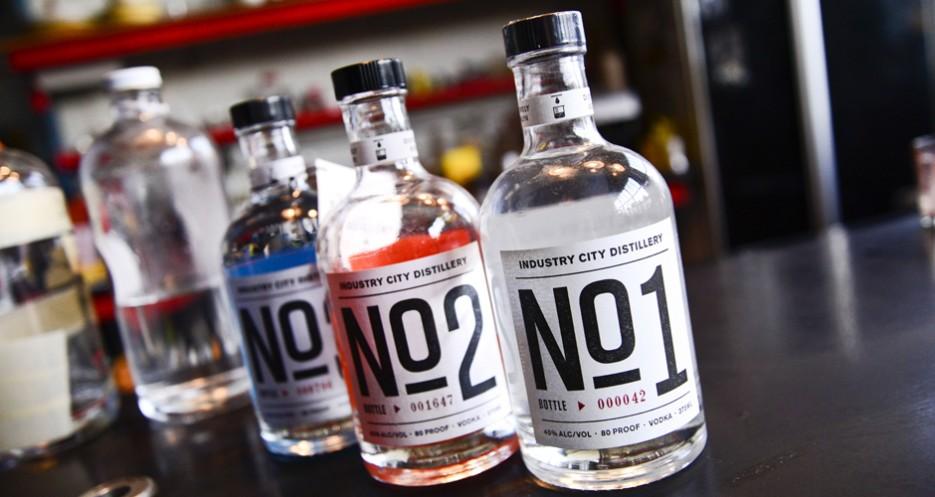 Industry City Distillery vodkas No. 1, 2, and 3