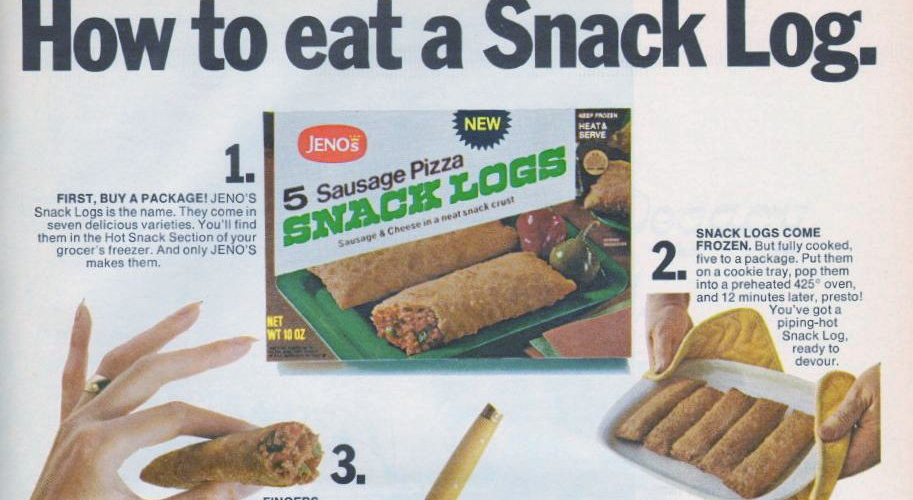Jeno's Snack Logs, 1970