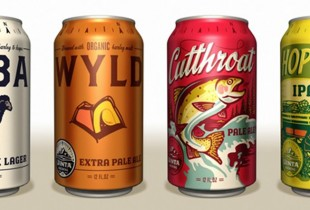 Uinta Cutthroat Pale Ale, Hop Notch IPA, Wyld Organic Pale Ale, and Baba Organic Black Lager. The Utah brewery just installed a state-of-the-art canning line and plans to release these beers in March. They look great.