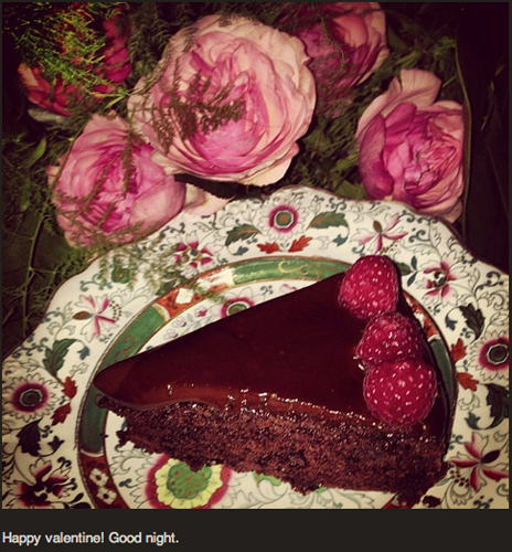 Zac Posen's Instagram is half fashion, half food—all of his own making. His homemade Valentine's Day feast was runway-wothy. (Via @zac_posen)