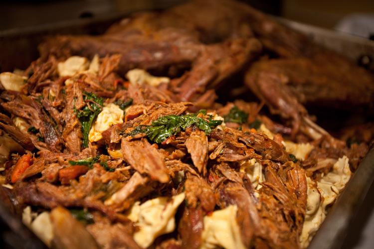 Leg of bobcat, Tuscan-style, with rib-meat ravioli.