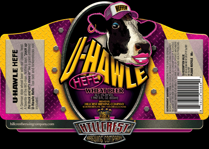 The So Bad It's Good Award goes to Hillcrest Brewing Co. for a cow with lipstick.