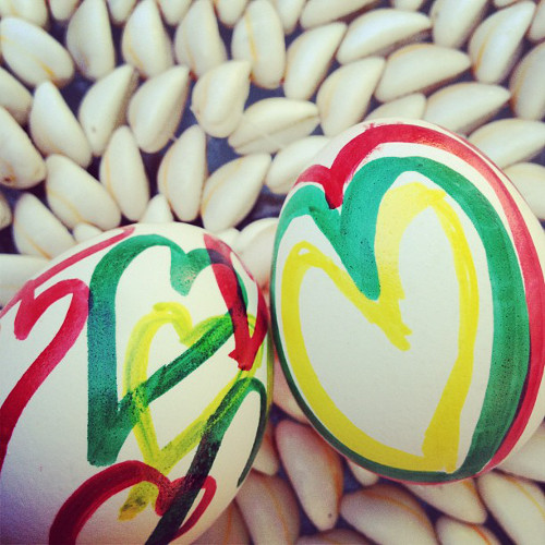 Jamaican Easter eggs from @aafoodstylist.