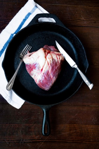 Milliron shot this beef heart for a Playboy profile on chef Justin Severino at