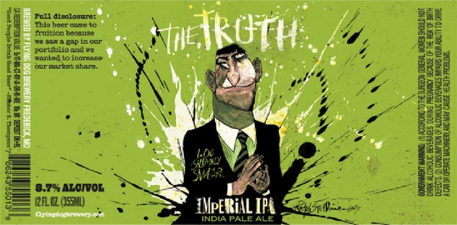 Ralph Steadman's artistic style is the truth. Source: Beer Pulse