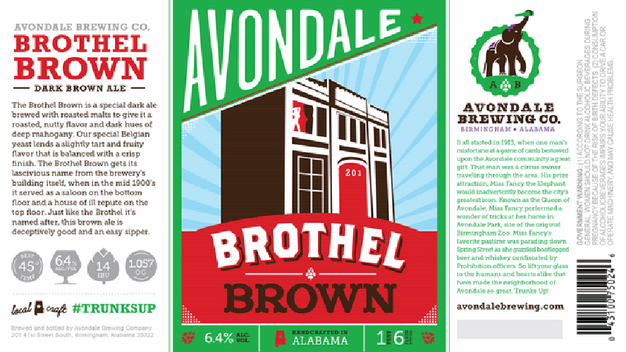 Fun fact: Avondale Brewing Company's building was once home to the infamous Long Branch Saloon. Above it, a brothel. Apparently, there remains the ghost of one former lady of the night, Meredith. History here inspires both brew name and a superb graphic. Source: Beer Pulse