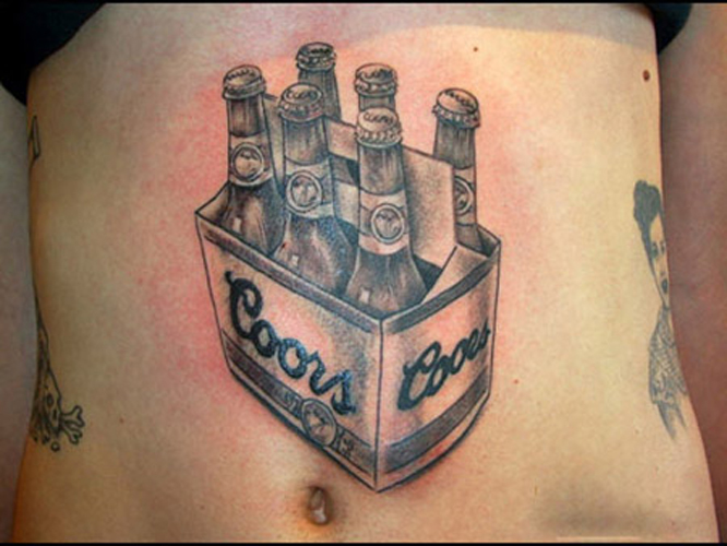 25 awesomely bad beer tattoos first we feast. Black Bedroom Furniture Sets. Home Design Ideas