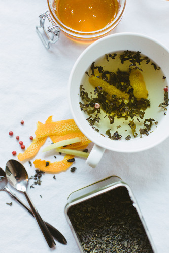 The women also show us how to get a better cup of tea—including adding fresh ginger, pink peppercorns, and orange zest.