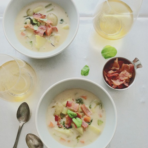 Sunday soups are always better with bacon. (Photo: @bevcooks)