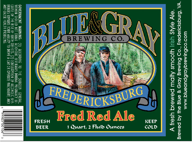 "The ""So Bad, It's Good"" Award goes to Blue & Gray for this beer that's sure to be a hit with Civil War reenactors."