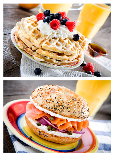 Milliron shot and styled all the plates for this breakfast shoot.